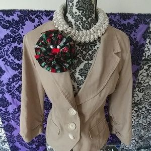 Christmas gift handmade fabric floral pin brooch